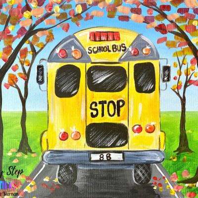 School Bus Acrylic Painting Tutorial