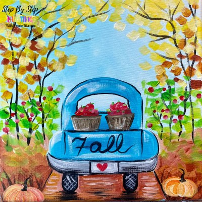 Apple Picking Fall Truck Painting Tutorial