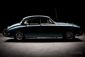 Daimler 250 V8, Oldtimer, Seitenansicht von rechts, Autofotograf: Stephan Hensel, Oldtimerfotograf, Hamburg