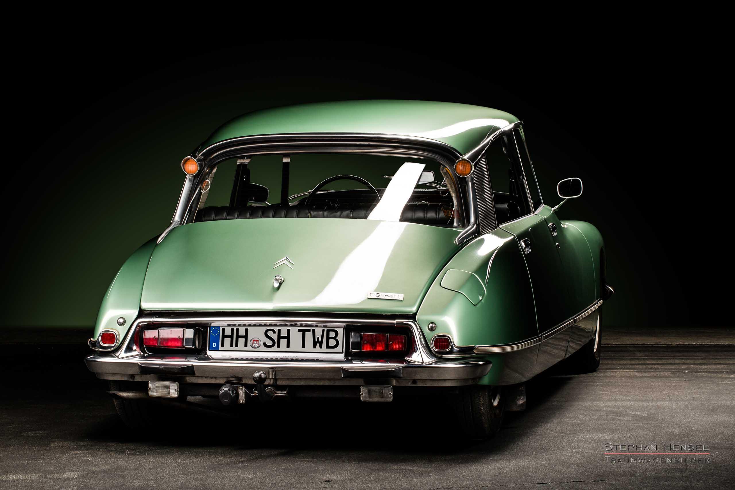 Citroën DSuper5, Ansicht von hinten rechts, Autofotograf: Stephan Hensel, Oldtimerfotograf, Hamburg