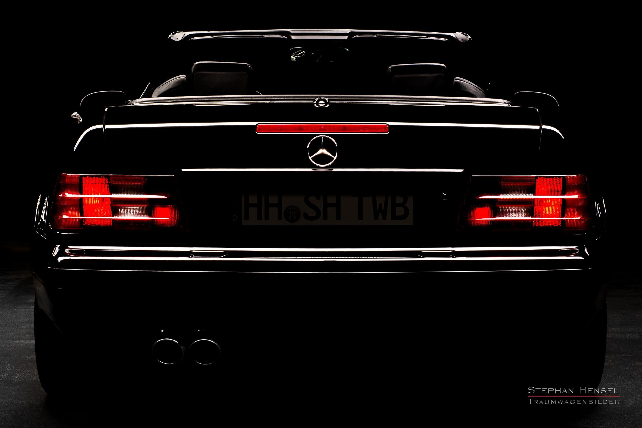 Mercedes-Benz SL 320, Heckansicht, Autofotograf: Stephan Hensel, Oldtimerfotograf, Hamburg
