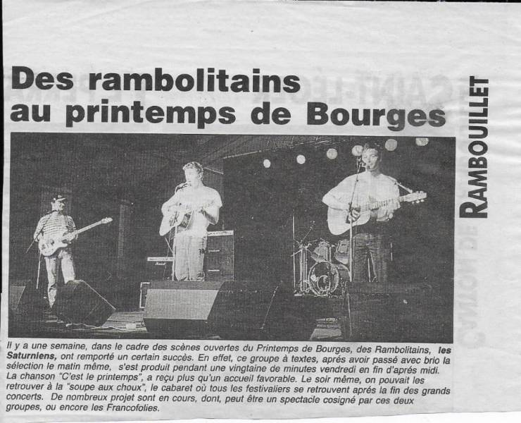 Article de journal. Printemps de Bourges.