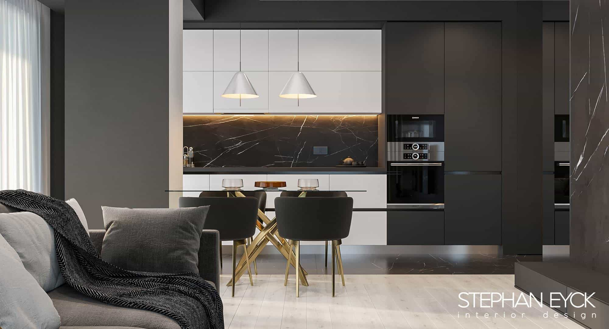 design interior bucatarie moderna apartament 703