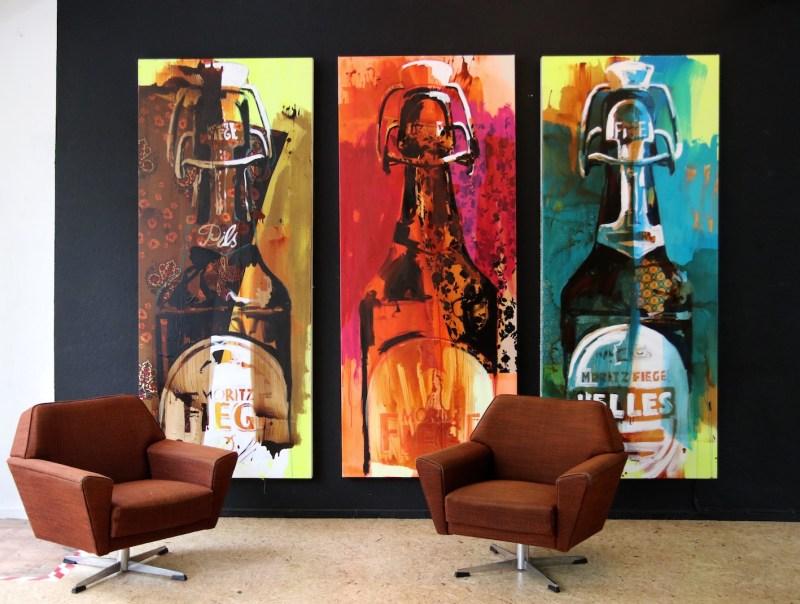 Fiege-Flaschen 1 - je 120x240 cm - Stephan Geisler