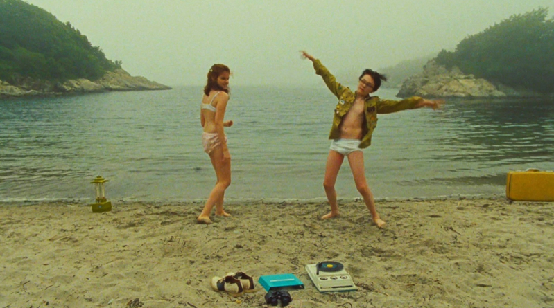 A movie still from Moonrise Kingdom