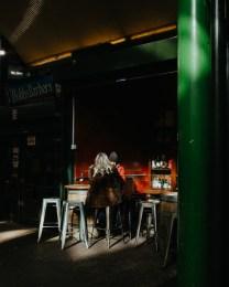 A wine bar in Borough Market