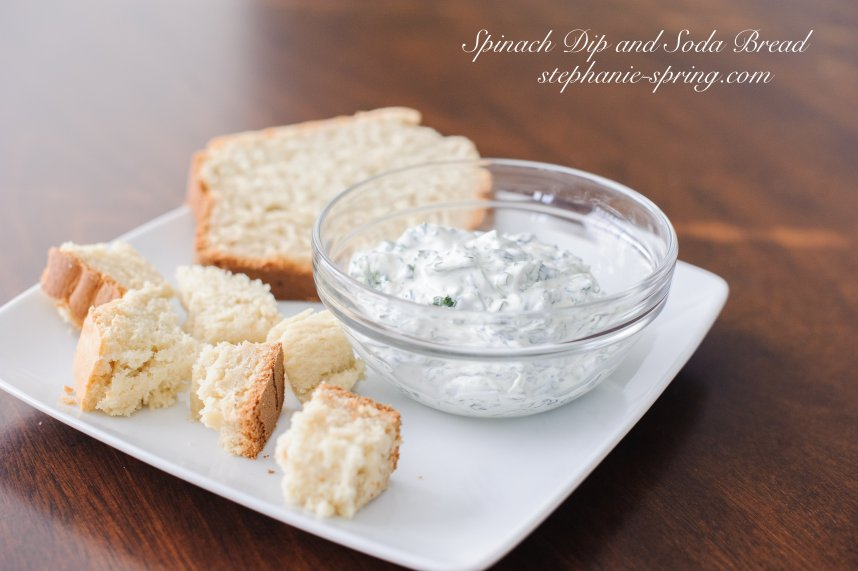 Spinach Dip and Soda Bread stephanie-spring.com