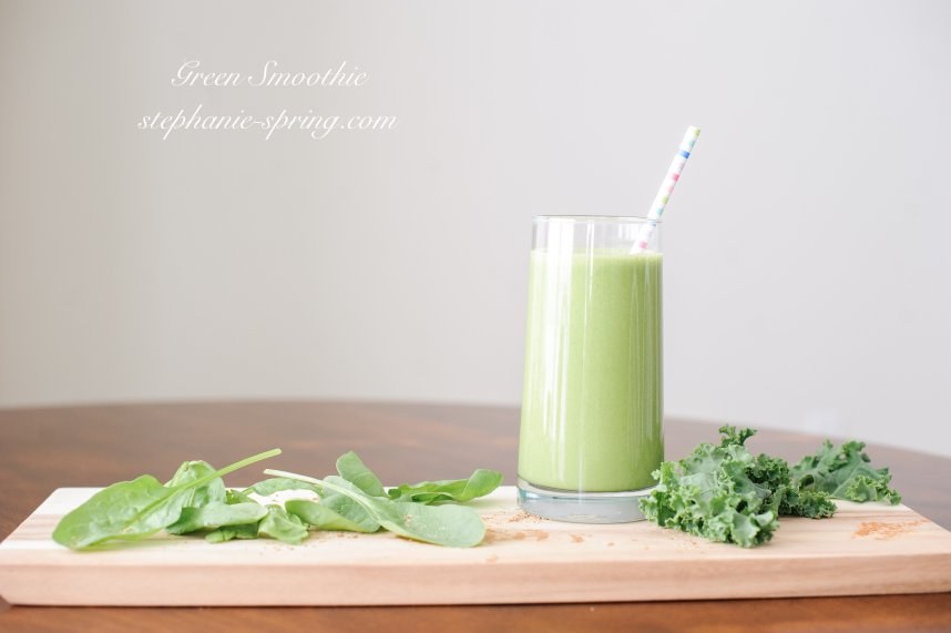 Green Smoothie-- Recipe at: stephanie-spring.com