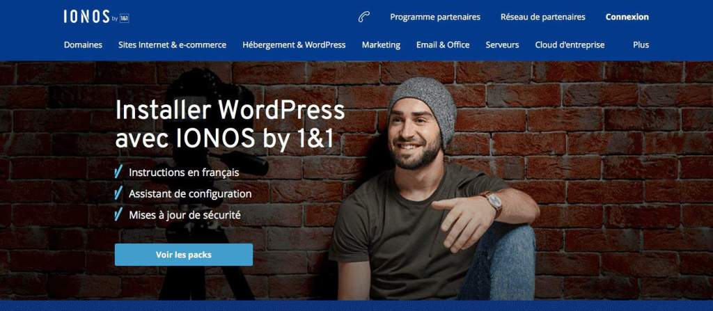 installer wordpress ionos 1&1
