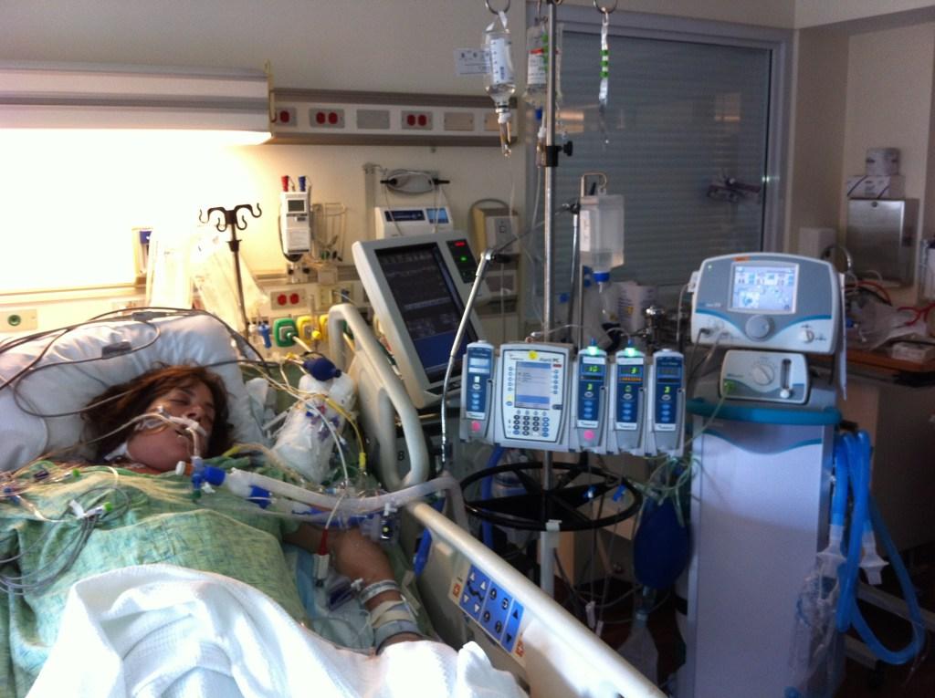 Stephanie Arnold AFEmom in hospital