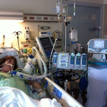 Stephanie Arnold AFEmom in hospital