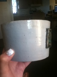 """Little plant pot that says """"All is well"""" (Very last words from the Harry Potter books) Made for my sister on Christmas."""