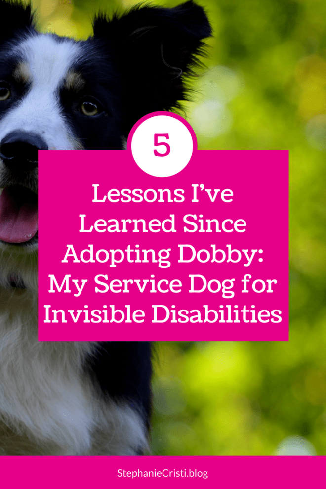 Stephanie Cristi details her experience having a service dog for invisible disabilities and the lessons she\'s learned in her first weeks with her dog. #servicedog #migraine
