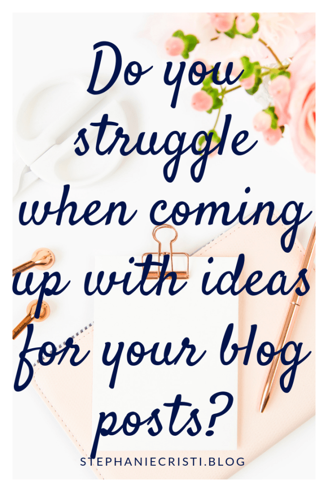 For any bloggers struggling to come up with ideas for blog posts, StephanieCristi details her method for neverending content ideas. #blogcontent #contencreation #blogpostideas