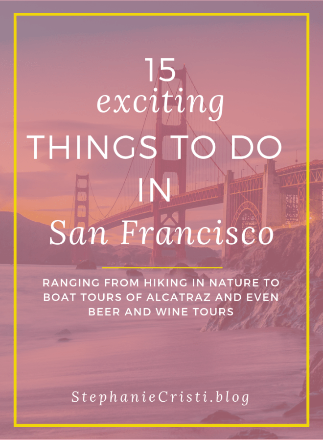 Are you planning a trip to San Francisco? With so many incredible sights to see, ranging from the Giant Sequoias in Yosemite National Park and the Muir Woods if you\'re into nature, to Alcatraz Island and the Golden Gate Bridge if you\'re into historical landmarks, you\'ll surely have plenty of things to do in San Francisco. Click through to check out my top 6 suggested activities in San Francisco.