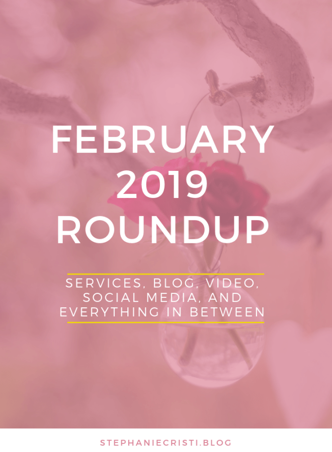 StephanieCristi has so much news to share with you in this February 2019 Roundup! Everything from #socialmedia, #video blogs, #quizzes, and #contentmanagement so click through now to check it all out AND grab some #freebies along the way!