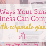 Throughout the past few years, the accessibility of going into business for yourself has increased considerably. However, this does not mean the path to success is easy. Some of the most established companies in the country are aware when someone is creeping into their territory, and if they are not, their presence still affects small businesses. So, how can a small business compete with these titans of industry? The following list includes four tips for accomplishing that very goal.