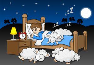 Insomnia counting sheep