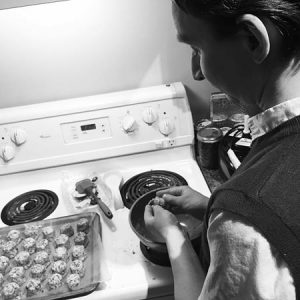 365 days of happy project - day 94 - stephanie de montigny - couple goals cooking together fun laughter weirdos