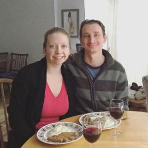 365 days of happy project - day 97 - stephanie de montigny - couple goals diner together food keto celebration raise jobs
