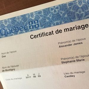 365 days of happy project - day 188 - stephanie de montigny - wedding marriage certificate love married life