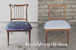 Reupholstering Vintage Kitchen Chairs | DIY Project