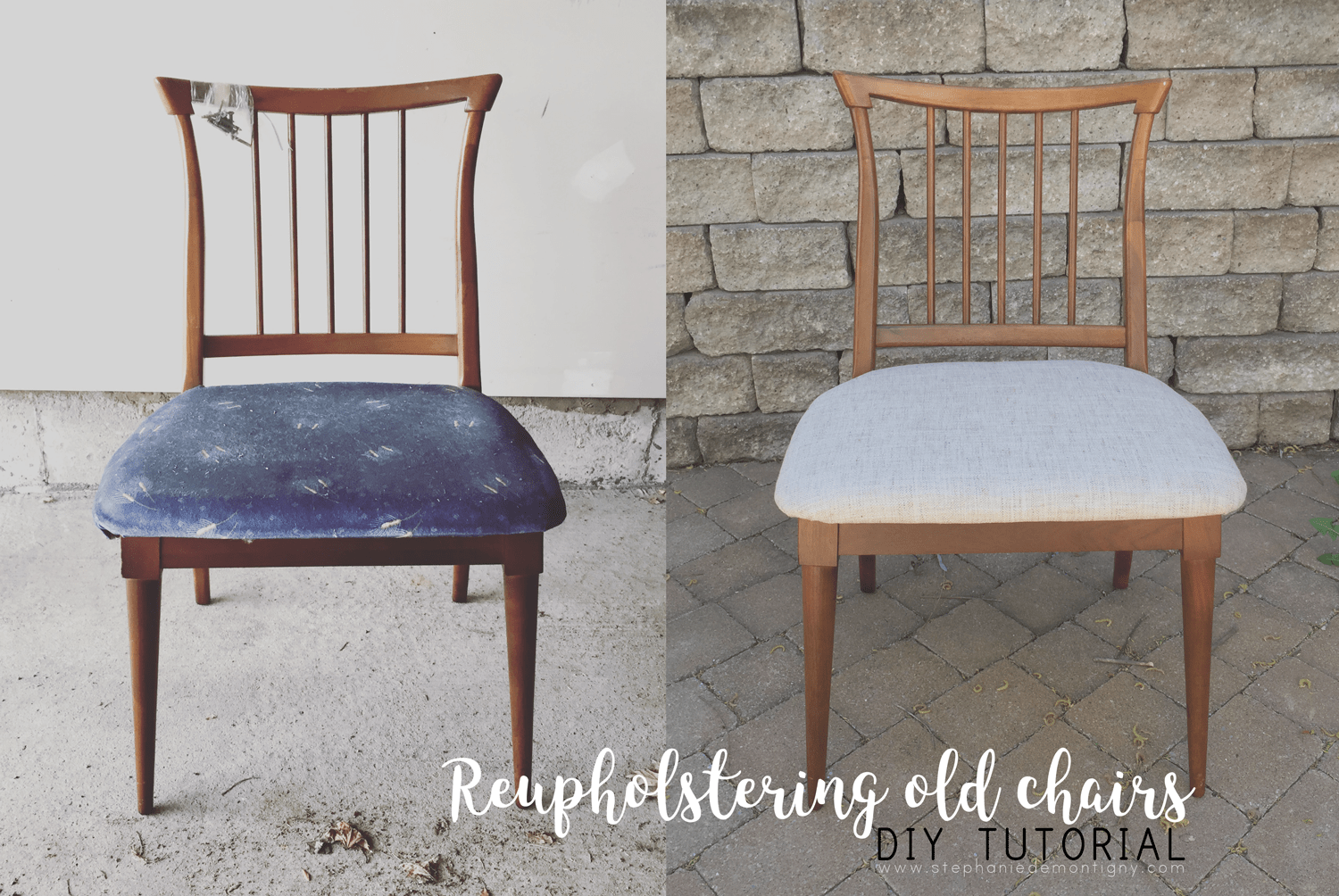 Reupholstering Vintage Chairs DIY Tutorial Antique To Modern