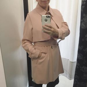 365 days of happy project - day 233 - stephanie de montigny - ottawa vintage clothing blush trench coat jacket pink AMH consignment shop