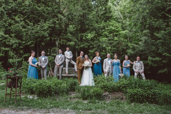 Grange de la Gatineau Cantley Outdoor Ceremony Ottawa Bride Bridal Party Formal Wedding Photography Melissa Morrissey