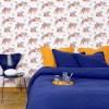 papier peint tete de lit jaune et bleu_Stephanie Desbenoit