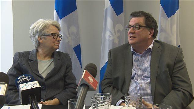Luc Vigneault en compagnie d'Agnès Maltais