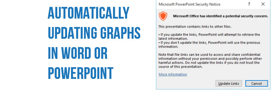 Stop word updating excel graphs