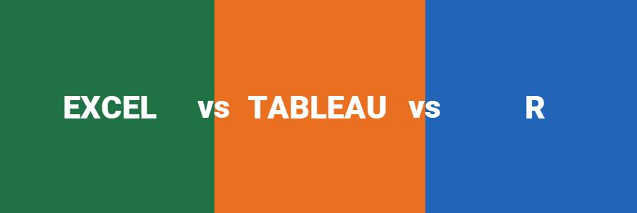 Excel vs. Tableau vs. R