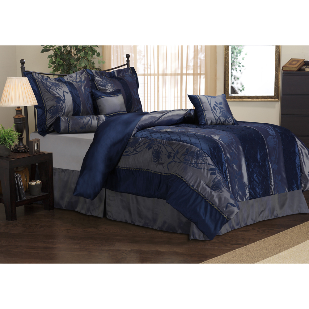 King Size Navy Blue Bedding Set - Novocom.top