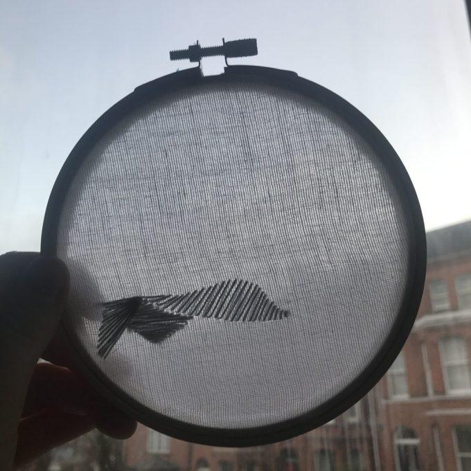 wave embroidery Stephanie Gaumond