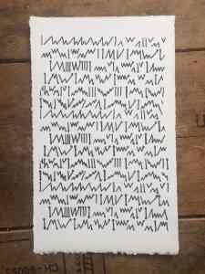 23 threadings for the set up of a loom_Stephanie Gaumond_ Screenprint