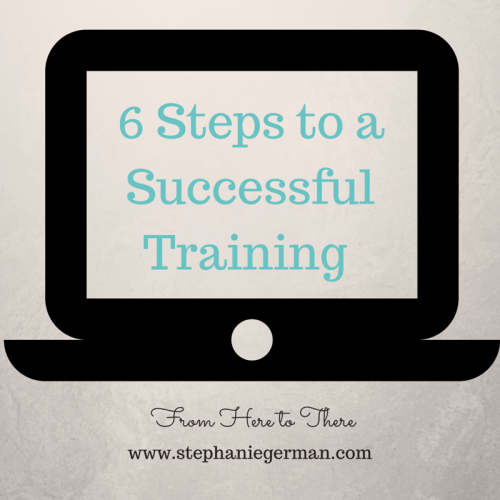 6 Steps to a Successful Training (1)