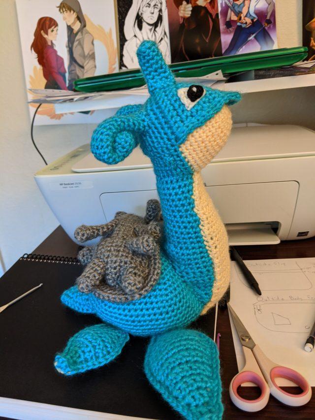 A crochet lapras