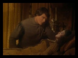 """Christopher Reeve and Bernadette Peters in the """"Sleeping Beauty"""" episode as the Prince and Princess."""