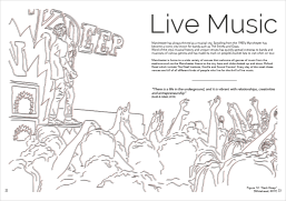 1 spread from a group project on how our city of Manchester shapes us as human beings