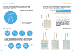 A spread from my concept design guidelines booklet for the Madlab organisation