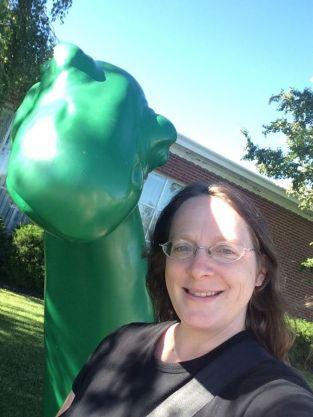 Dinosaur selfie at Little America