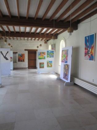 Vue générale de l'expo collective avec les travaux des 4 artistes