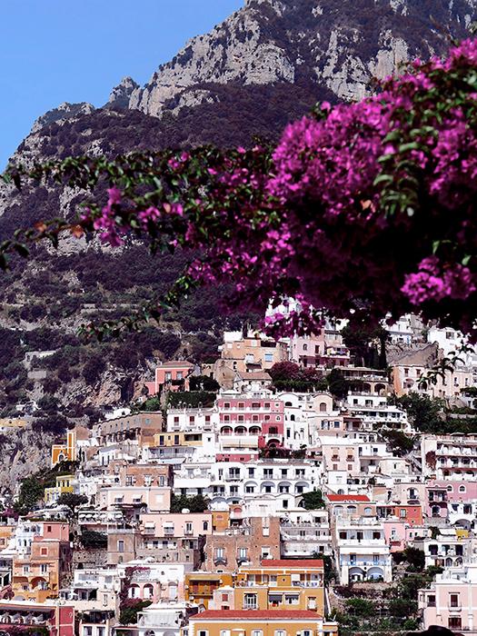 positano-amalfi-coast-italy-colorful-town-bougainvillea-flowers-framed-wall-art-photography-stephanie-janett
