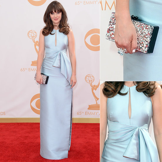 Zoe Deschanel in J Mendel, Emmy's