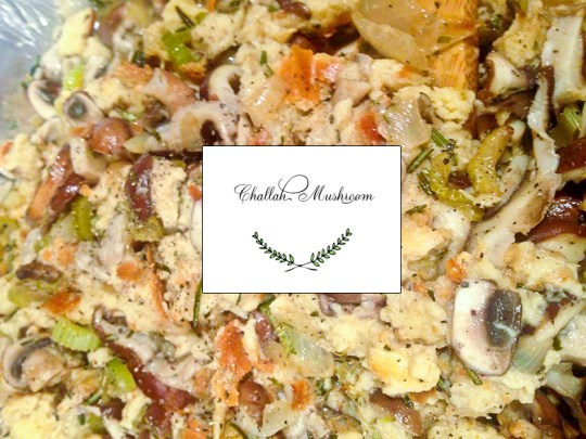 Mushroom Challah Stuffing