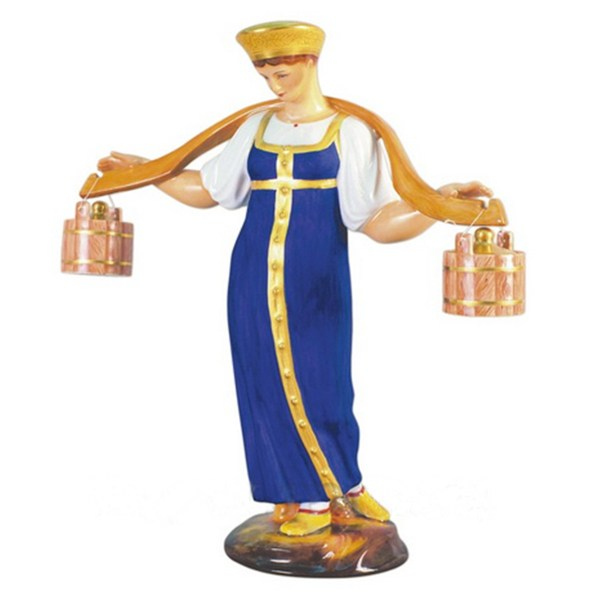 Porcelain figurine Girl - Water-carrier