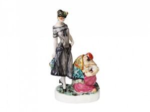 Porcelain female figurine Fortune-teller