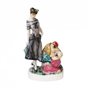 Porcelain female figurine Fortune-teller