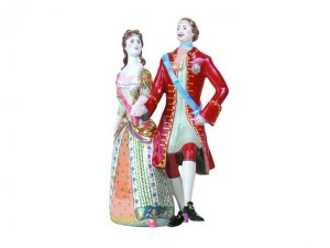Porcelain sculpture Peter and Catherine - Peter's Assembly